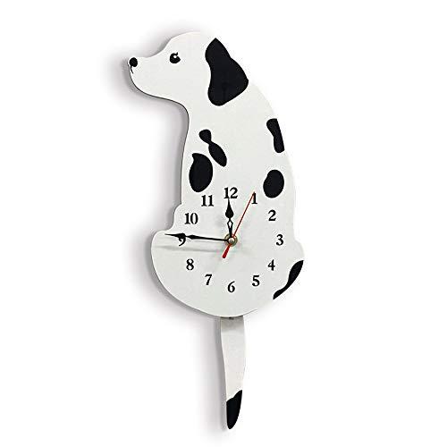 LF-wandklok, creatief gedrukt hout gezondheid en milieubescherming, hond motief hema-klok creatief