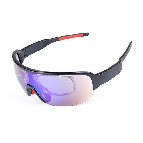 Sonnenbrille 400 Uv Herren Sportbrille Mit Wechselgläsern Halbrahmen 5 Stück Sport Sandproof Polarisator Herren Und Damenmode Multifunktions Reitbrille Black Damen Herren