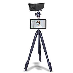 immagine di WYY Termocamera, Temperatura Corporea Detection, Febbre Screening Thermal Camera del Sensore, Senza Contatto Flusso di Persone in Modo Rapido Passo Fotocamera Misura di Temperatura con Supporto