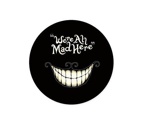 We are All Here Crazy Mouse Pad Game Mouse Pad Computer Mouse Pad Office Mouse Pad Round Non-Slip Smiley Mouse Pad (Smiley Mouse Pad)