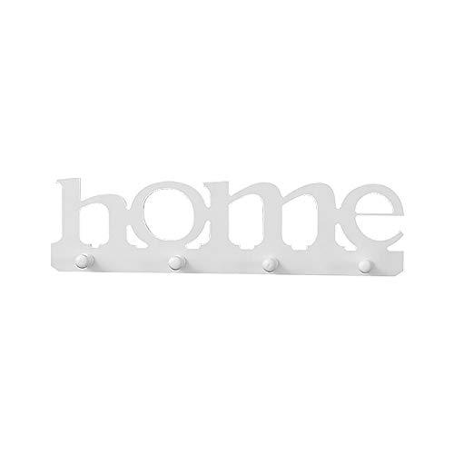 BIOBEY Perchero montado en la pared, 4 ganchos impermeables, toallero o contenedor de almacenamiento, adecuado para puerta, cocina, dormitorio, cuarto de baño, oficina, hotel