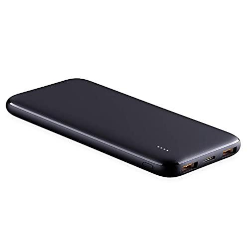 Powerbank 10000mAh USB-C batería externa con 18W Power Delivery 3.0 cargador portátil con 3 puertos 2 USB-C y 1 micro USB, compatible con smartphones y tablets