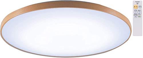 パナソニック LEDシーリングライト 調光・調色タイプ リモコン付 ~8畳 ミディアムブラウン仕上 HH-CE0819AH