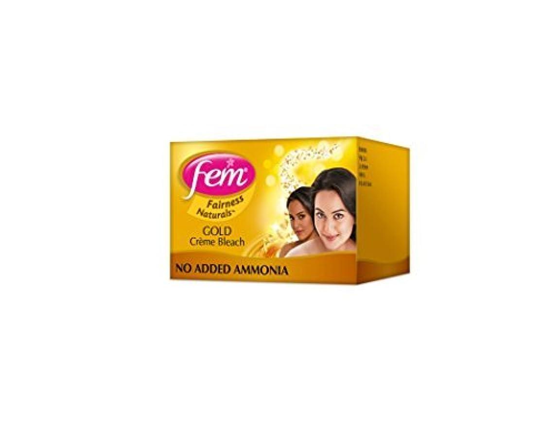 風教会感情2 FEM Herbal Gold Cream Bleach Wt Real Gold Golden Glow Natural Fairness 26g X 2 by Fem