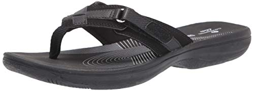 Clarks Women's Breeze Sea Flip-Flop Black Limited Edition Black 8 M US