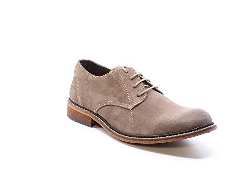 Fly London Hoco817fly, Zapatos de Cordones Derby Hombre, Beige (Taupe 025), 42 EU