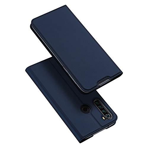 DUX DUCIS Hülle für Xiaomi Redmi Note 8T, Leder Flip Handyhülle Schutzhülle Tasche Hülle mit [Kartenfach] [Standfunktion] [Magnetverschluss] für Xiaomi Redmi Note 8T (Blau)