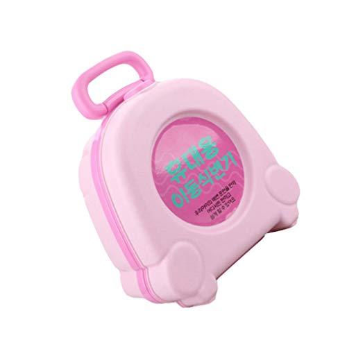 zlw-shop Orinal Bebe Bebé portátil Potty PP plástico Bebé Aseo Viaje Coche Aseo Entrenador Desmontable Liner Orinal Infantil (Color : Pink)
