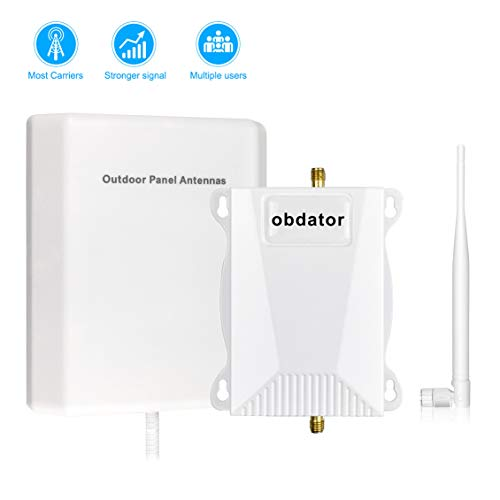 Cell Phone Signal Booster AT&T 4G LTE Cell Booster obdator High Gain Band 12 700Mhz ATT T-Mobile Signal Booster Home 4G Mobile Phone Signal Booster - Boost 4G Data & Voice