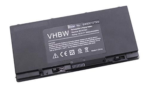 Batterie Li-Polymer vhbw 3000mAh (15.2V) pour Ordinateur Portable, Notebook ASUS Pro B551, Pro B551LA-CR015G, Pro B551LG. Remplace: B41N1327, B41-N1327