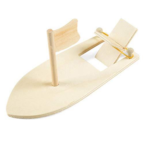 ZJL220 Kits de bricolaje de madera barco de vela modelo de pintura educativa niños niños jardín de infancia decoración regalo