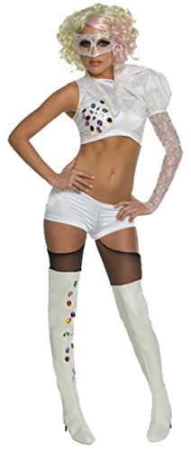 Rubies Womens Lady Gaga 09 Vma With Outfit Rock Star Halloween Themed Costume, Standard (up to 12)
