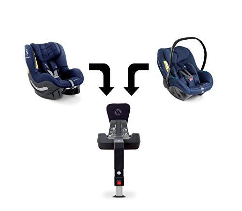 Avionaut Trio Modular Set, 3er-SET - Pixel Babyschale (0-13 kg, 40 cm - 86 cm), AeroFIX Soft Line Kindersitz (9-17,5 kg, 67 cm - 105 cm) und IQ-Base (ISOFIX-Basis), Blau