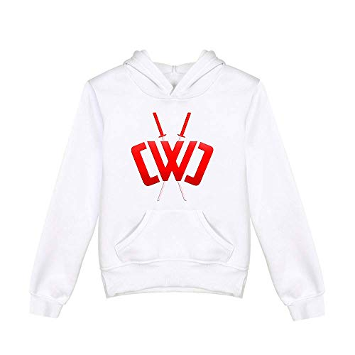 Boys and Girls Autumn and Winter Sportswear, Chad Wild Clay Children's Hoodie Casual and Loose Fit for Children Aged 3-17 White
