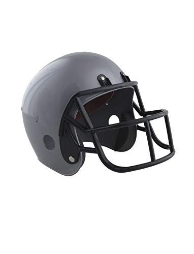 Luxuspiraten - Kinder American Football Helm, perfekt für Karneval und Halloween, Grau