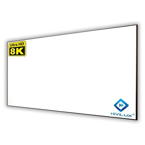 HiViLux Ultra Thin RahmenLeinwand Kinofolie Weiss Tuch: HiViWhite Cinema 1,0 Gain 1,0 8K/4K/3D (16:9 Bild:299x168cm 135
