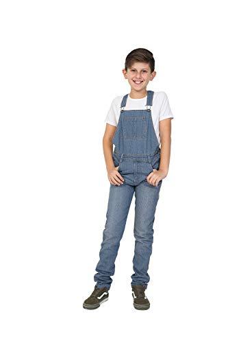 Wash Clothing Company Jungen Jeanslatzhose - Lightwash Slim Fit Kinder Latzhose 4 6 8 10 12 14 Jahre KID047LIGHT-6 Years