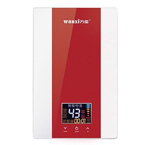 LYHY Calentador de Agua Caliente de Temperatura Constante de baño instantáneo electrónico 7kW con Pantalla LCD (Color: Azul)
