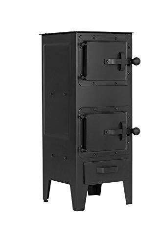 Wood burning Heater Stove 6 kw Workshop Garage Shed Log burner multi fuel