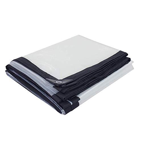 HCYTPL helder dekzeil regenbestendig hoogwaardig plastic doek windscherm stalen afdekking - 120 g/m2