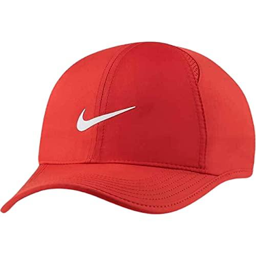 Nike Rojo Featherlight Performance Gorra ajustable Aerobill Dri-Fit Unisex