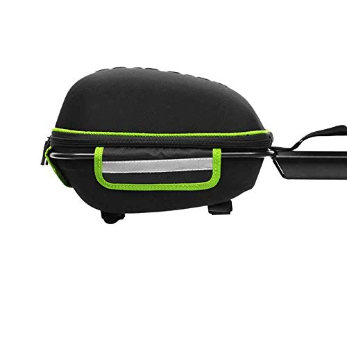 BXU-BG After-The-Shelf Shelf Bag Bicycle Rear Frame Luggage Bag Waterproof Mountain Bike Aluminum Alloy Frame Shell Package Quick-Loading Rear Shelf Package - Black And Green