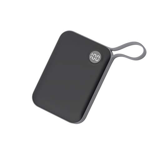 Draagbare oplader voor bank, 10.000 mAh, mini-USB-oplader met 2 USB-uitgangen en LED-display, Fast Charge voor iPhone, Samsung Galaxy E tabletten