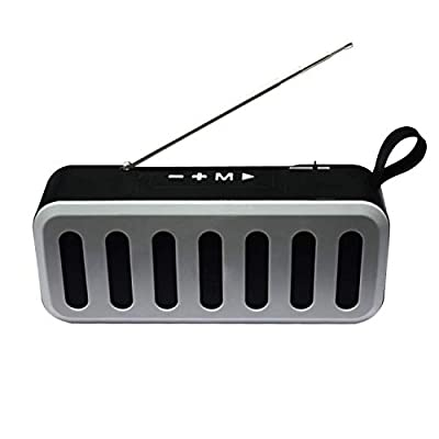 Bluetooth Speakers Portable Bluetooth Speaker Wireless Waterproof Outdoor Portable Solar Bluetooth 5.0 Speaker 5W 55H Playtime Stereo Sound Power Bank LED Light for Home Party,Shower,Travel