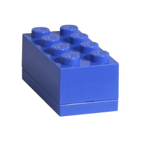 Room Copenhagen, LEGO Mini Box - BPA, Phthalate, and PVC Free Snack Storage - Brick 8, Bright Blue