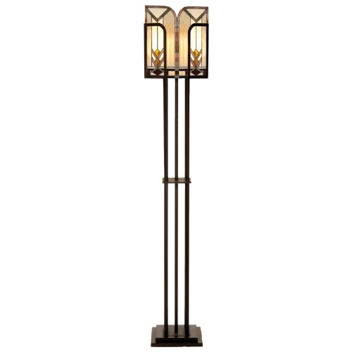 Lumilamp 5LL-5565 Stehlampe/Flurlampe Stehleuchte Art Deco Tiffany Stil Glasschirim 35 * 182 * 23,5 cm 1x E27 max 60w handgefertigt glasschirm