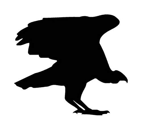 Ranger Products Vulture Condor Bird of Prey Decal Sticker, Die Cut Vinyl Decal for Windows, Cars, Trucks, Tool Boxes, laptops, MacBook - virtually Any Hard, Smooth Surface (Ranger Little Bird)