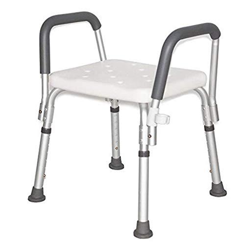 GAELLE 48 * 43 * 70 cm Weiß Abhebbarer Alter Mann Bad Stuhl, Aluminium Bad Hocker Bad Anti-Skid Bad Hocker Bad Dusche