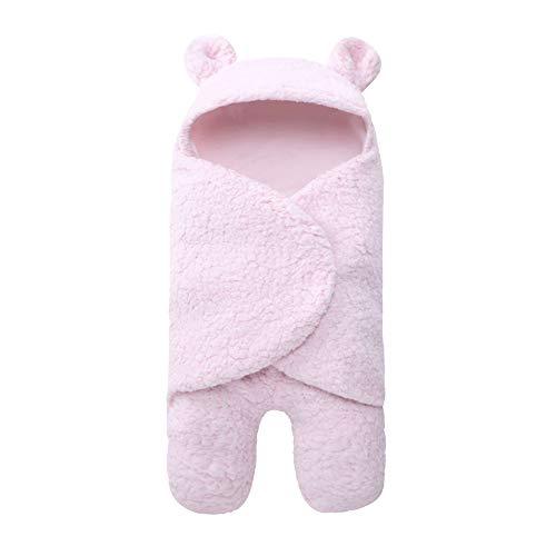 Nouveau Née Bébé Unisexe Couverture Couchage, Mignonne Décoration Animale Coton Emmailloter,Pink