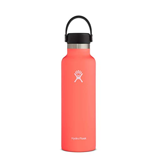 Hydro Flask Water Bottle - Standard Mouth Flex Lid - 18 oz, Hibiscus