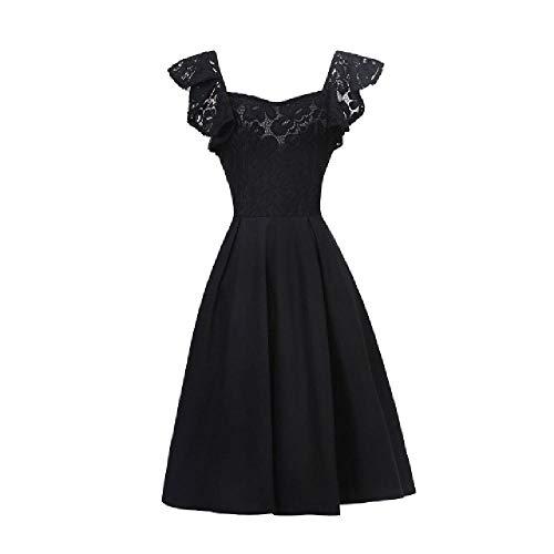 Vestido de mujer de cintura sólida cuello cuadrado vestidos delgados casual manga mariposa elegante