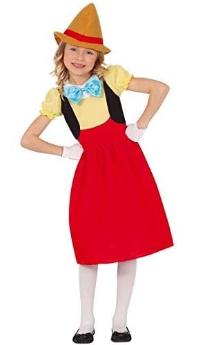 Fiestas Guirca, S.L. Disfraz de Pinocho para niña