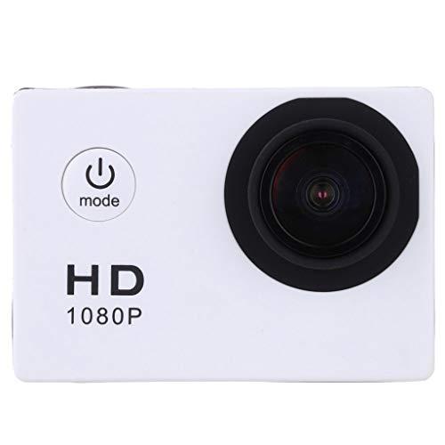 Full HD 1080P Sport Digital Camcorder, 30 m impermeabile Action Camera DVR Cam DV Video Camcorder, 140° + obiettivo ottico angolo di visione, doppia batteria di ricarica, telecomando WiFi, bianco