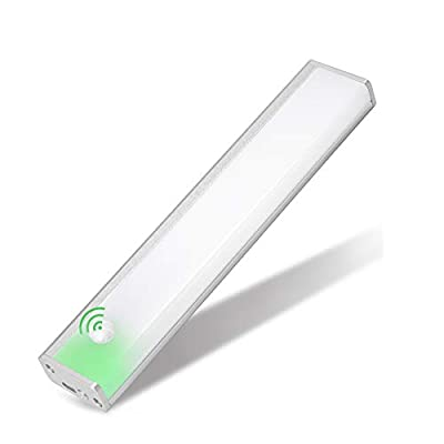 Automatic Closet Lights,Motion Sensor Wireless Pantry Light Rechargeable and Magnetic Stick-on Anywhere Under Cabinet Lights for Bedroom Light Bathroom Lighting (Cold white-20cm, 1 Pack)