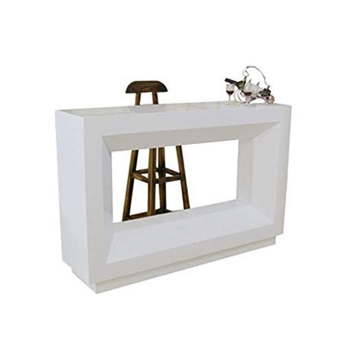 Feixunfan Mesa de bar simple y moderna mesa de bar para salón, mesa de comedor, partición para el hogar, mesa de bar para café y cocina (color: blanco, tamaño: 120 x 40 x 100 cm)