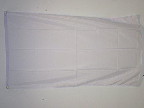 AZ FLAG Drapeau Unicolore Blanc 90x60cm - Drapeau de Couleur Blanche 60 x 90 cm - Drapeaux