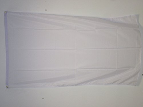 AZ FLAG Flagge EINFARBIG Weiss 150x90cm - EINFARBIG Fahne 90 x 150 cm - flaggen Top Qualität