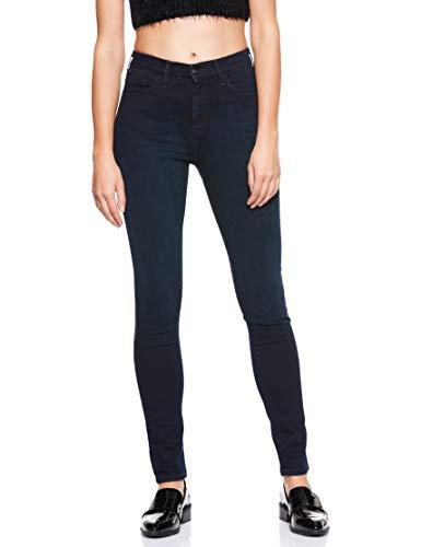 Wrangler Damen Skinny Jeans HIGH RISE SKINNY, Schwarz (Blueblack 51L), W25/L32