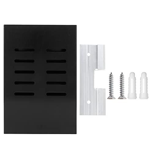 Estante de cocina, hermoso estante de pared de superficie negra mate resistente y duradero para el hogar