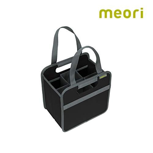 meori 6 Bottle Lava Black/Liquor Spirits Enthusiast Tastings Grocery Shopping Glass Dividers Travel Hostess Gift Wine Carrier, 6 Slot