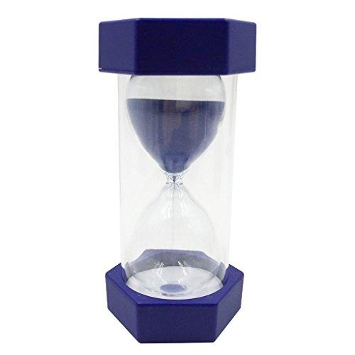 Homyl Sabliers Minuterie Horloge de Sable Hourglass en Plastique Verre Sable - 1min royalblue