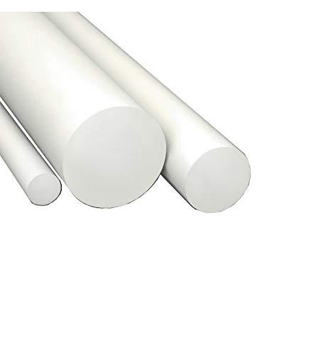 Barra tonda in NYLON BIANCO disponibili vari diametri e lunghezze (D20X1000 mm (diametroxlunghezza))