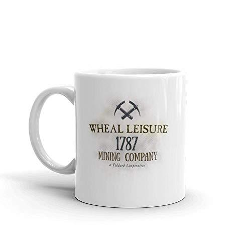 N\A Logo poldarks Wheal Empresa minera de Ocio 11 oz cerámica Blanca