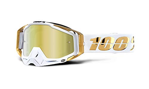 100% Racecraft glasses LTD, mirror gold lens.