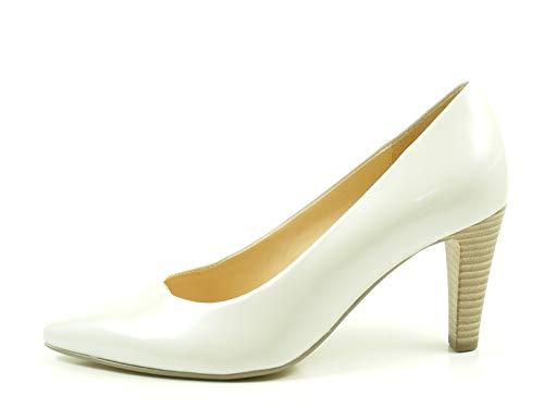 Gabor 61-280 buty damskie lakier perlatolowy czółenka szerokość F, kość słoniowa - białawy - 38 EU