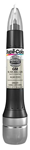 Dupli-Color AGM0593 Single General Motors White Diamond All-in-1 Scratch Fix Pen